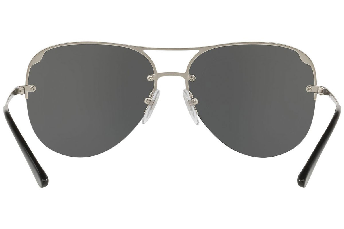 Vogue Metallic Beat Collection VO4080S 323/87. Frame color: Silver, Lens color: Grey, Frame shape: Pilot
