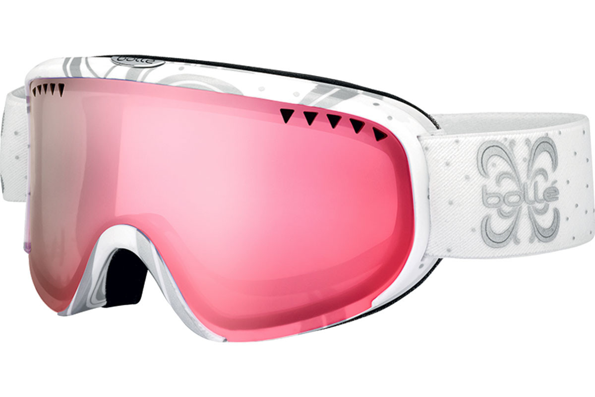 Bolle Scarlett 21385 Photochromic. Frame color: White, Lens color: Pink, Frame shape: Single Lens