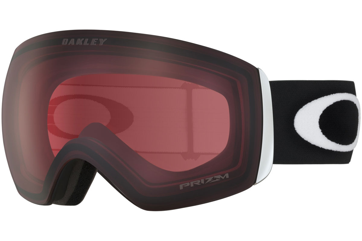 Oakley Flight Deck OO7050-03 PRIZM. Frame color: Schwarz, Lens color: Rosa, Frame shape: Monoscheibe