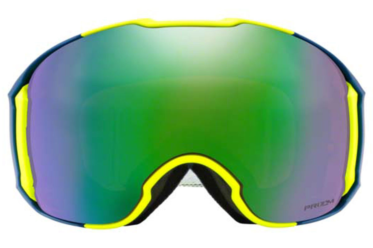 Oakley Airbrake XL OO7071-32 PRIZM. Frame color: Yellow, Lens color: Green, Frame shape: Single Lens