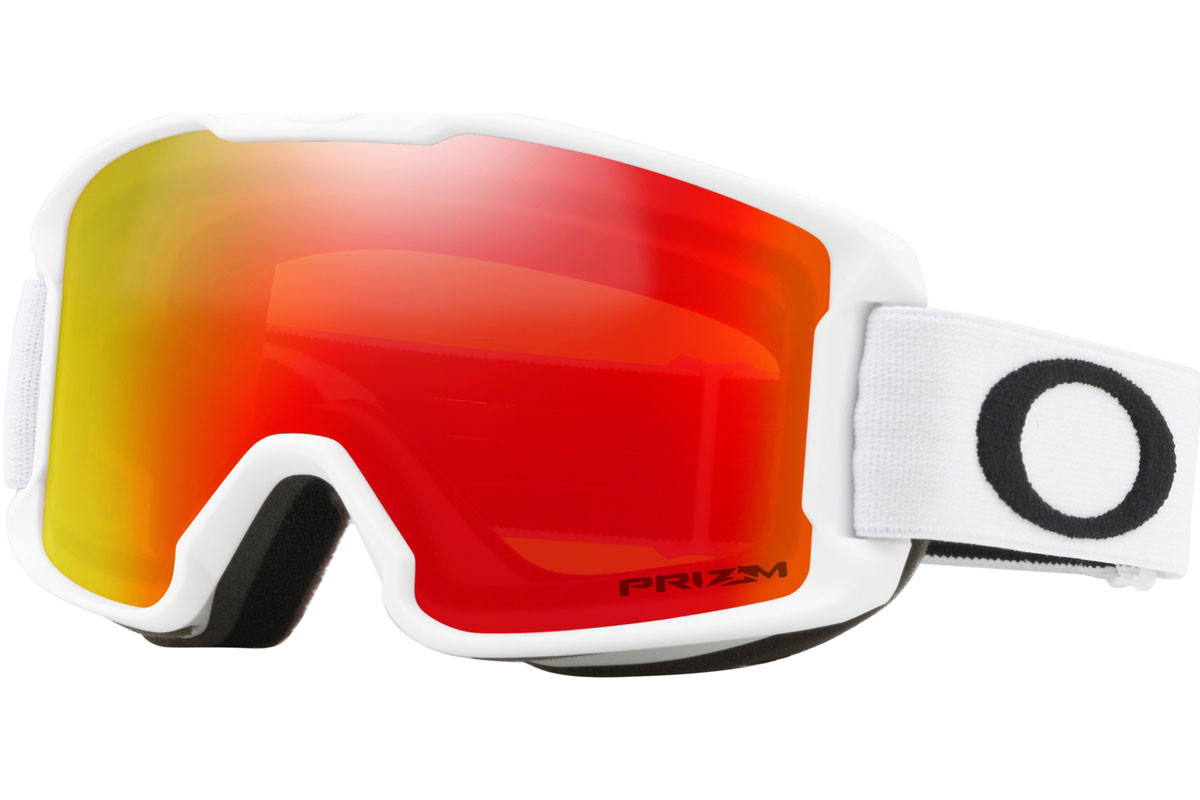 Oakley Line Miner Youth OO7095-08 PRIZM. Frame color: White, Lens color: Red, Frame shape: Single Lens