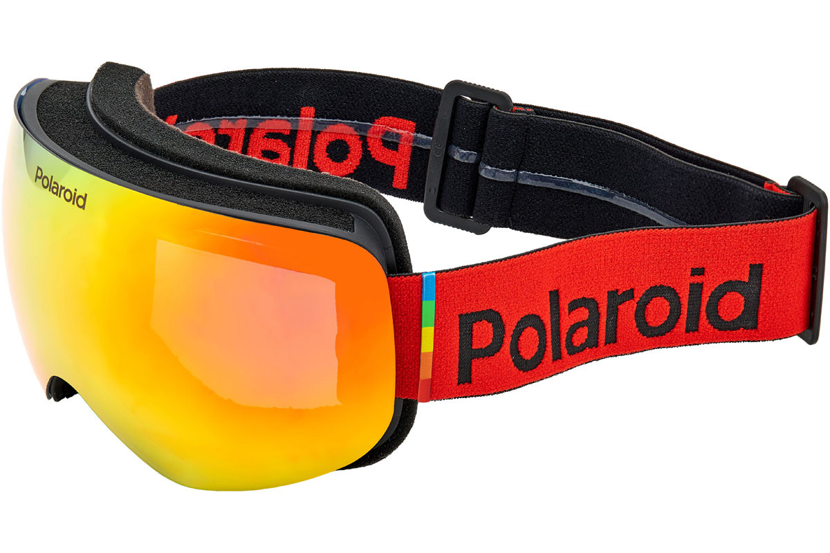 Polaroid Mask 01 Mask 01 9KS/OZ Polarized. Frame color: Schwarz, Lens color: Rot, Frame shape: Monoscheibe