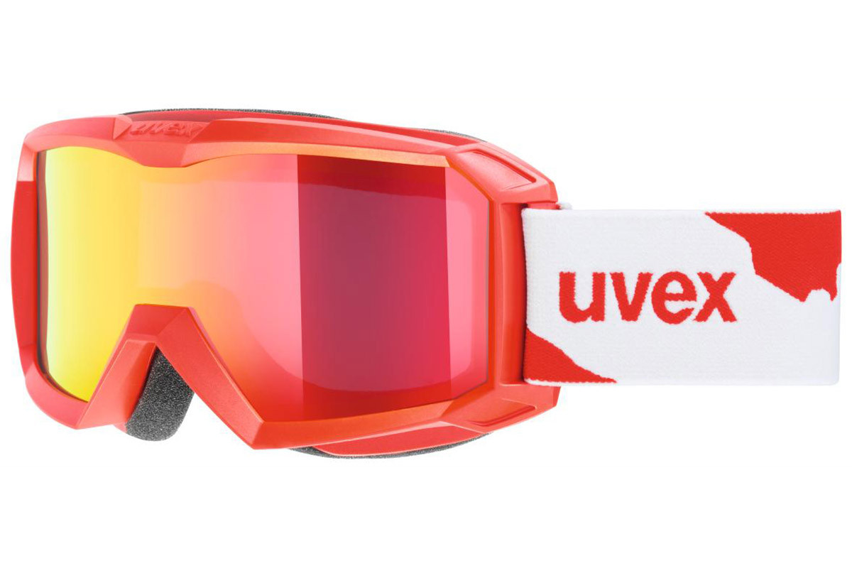 uvex flizz LM 3026. Frame color: Red, Lens color: Red, Frame shape: Single Lens